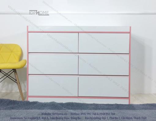 Tủ ngăn kéo đẹp TA6804 - Màu hồng cho bé.