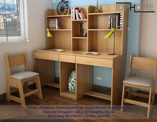 Mẫu bàn học đôi đẹp BH6817