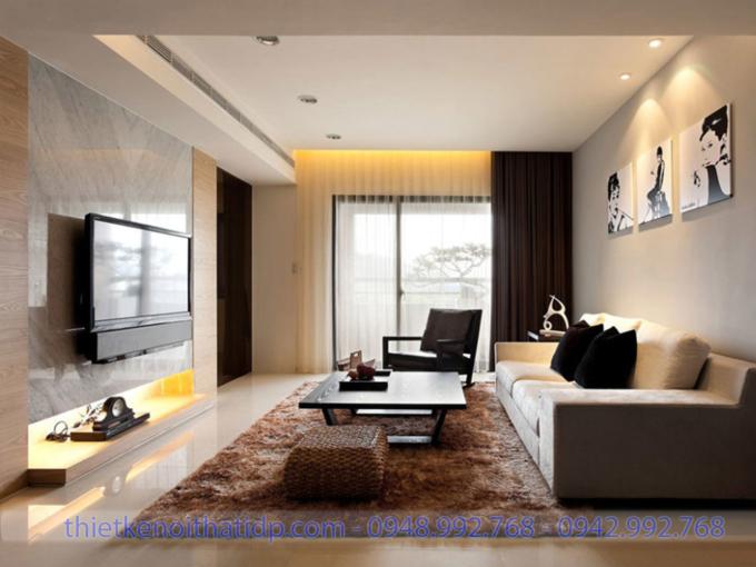 Mẫu thiết kế phòng khách chung cư đẹp