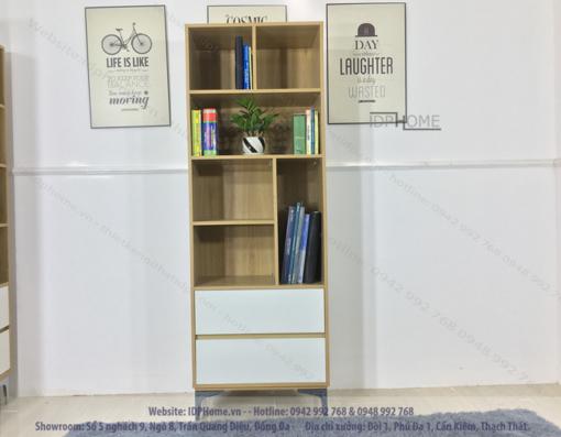 Mẫu tủ sách đẹp TS6804