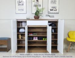 tủ giày gỗ hiện đại giá rẻ