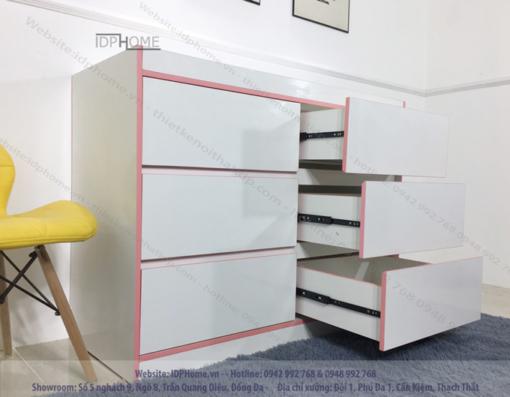 Tủ ngăn kéo cho bé TA6804 - Màu hồng cho bé.