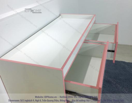 Tủ ngăn kéo cho bé gái TA6804 - Màu hồng cho bé.