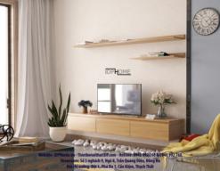 Cách đặt kệ tivi treo tường phòng khách hợp phong thủy