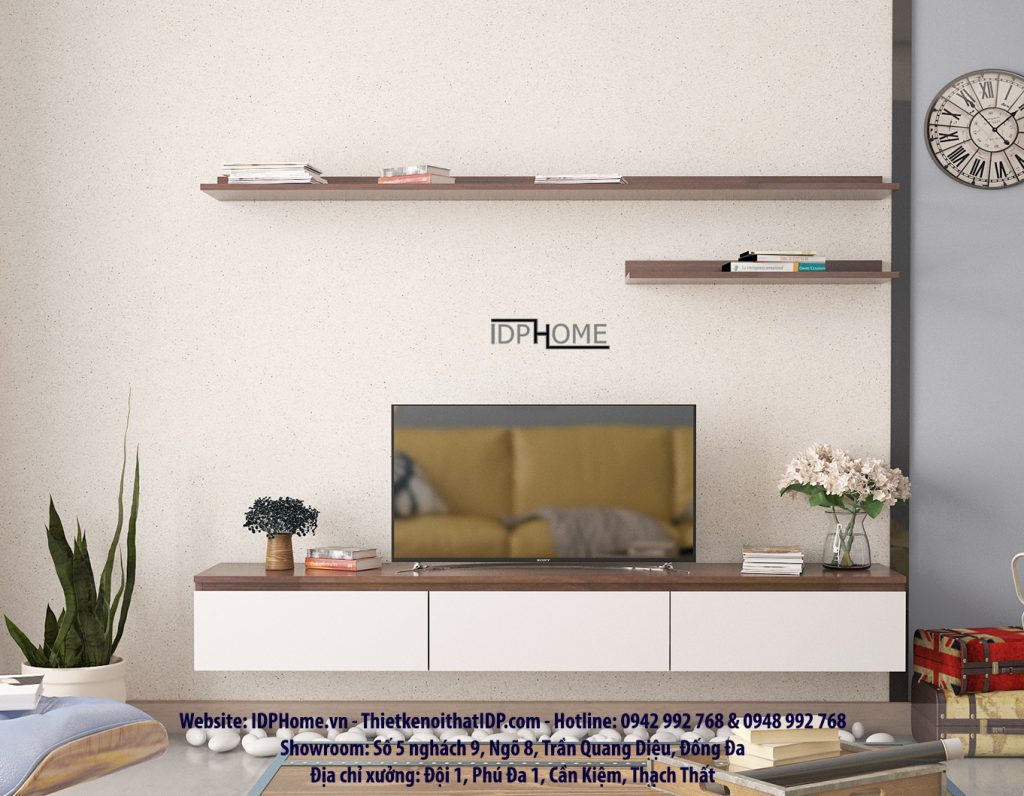 Kệ tivi treo tường cho phòng khách