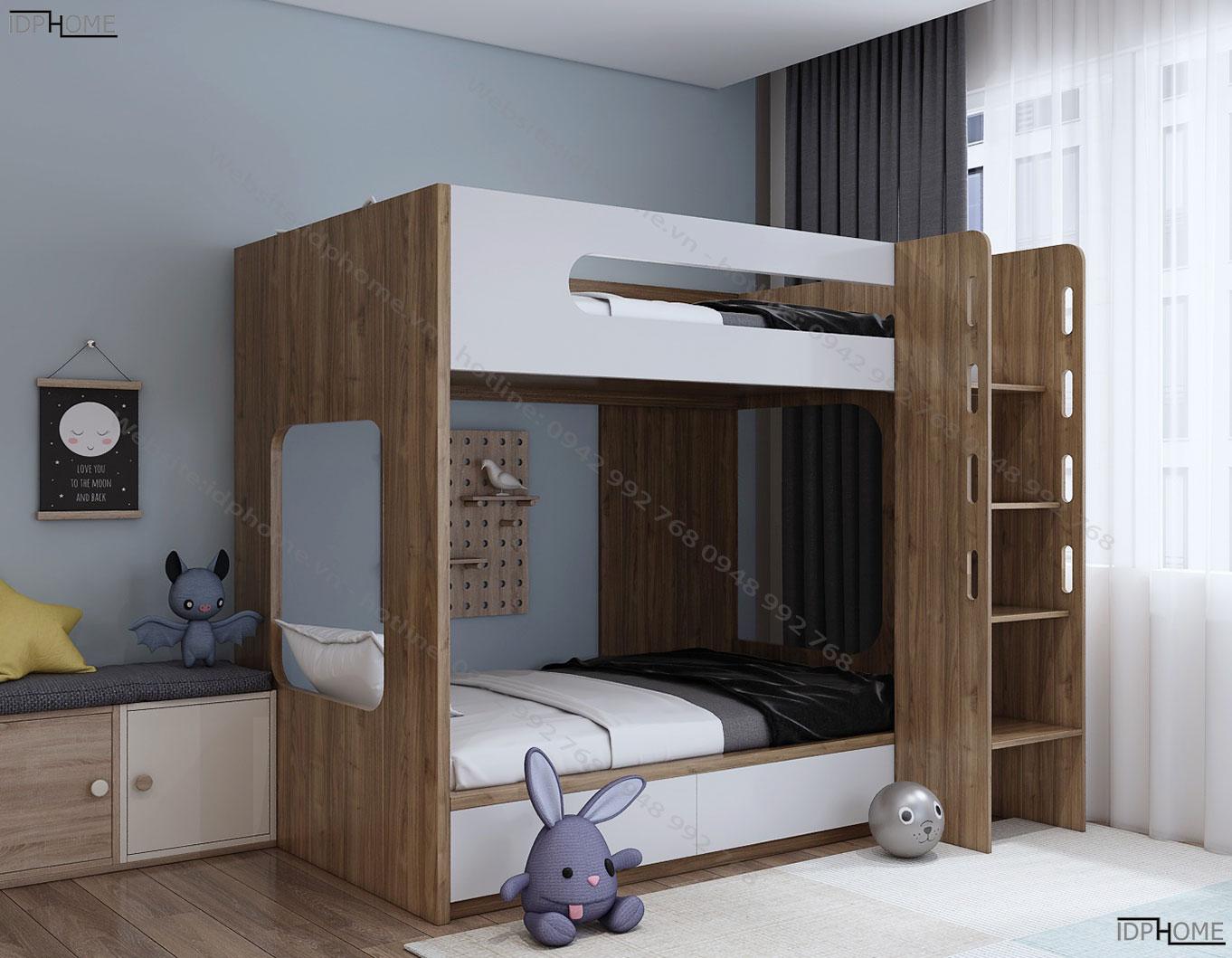 Giường 2 tầng đẹp thiết kế độc đáo GT6811