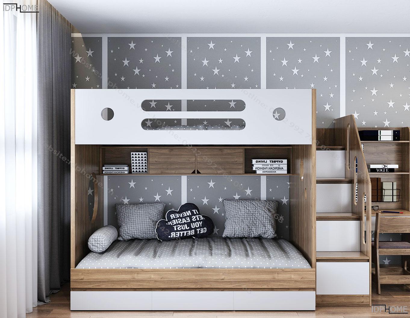 Giường tầng cho bé đẹp giá rẻ GT6813