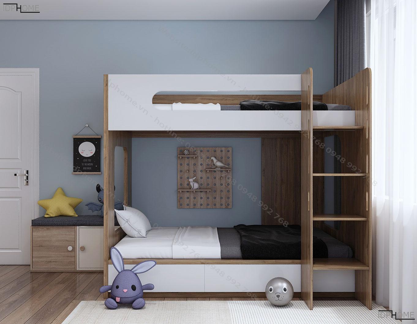 Mẫu giường 2 tầng đẹp GT6811