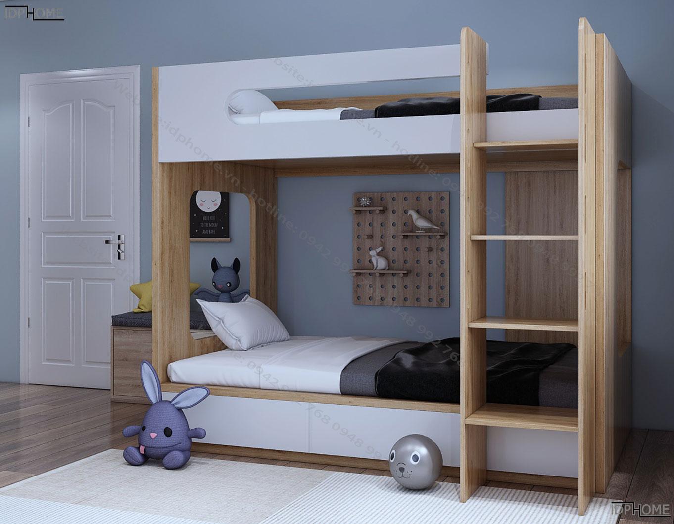 Mẫu giường 2 tầng đẹp giá rẻ GT6811