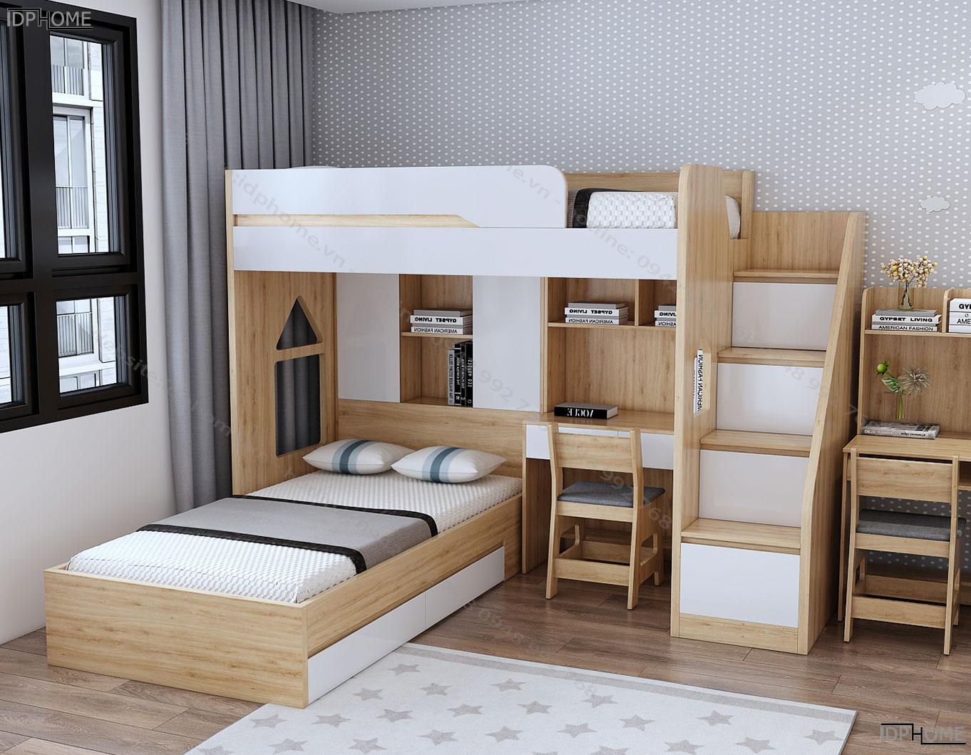 Mẫu giường tầng đa năng tiện dụng GT6816