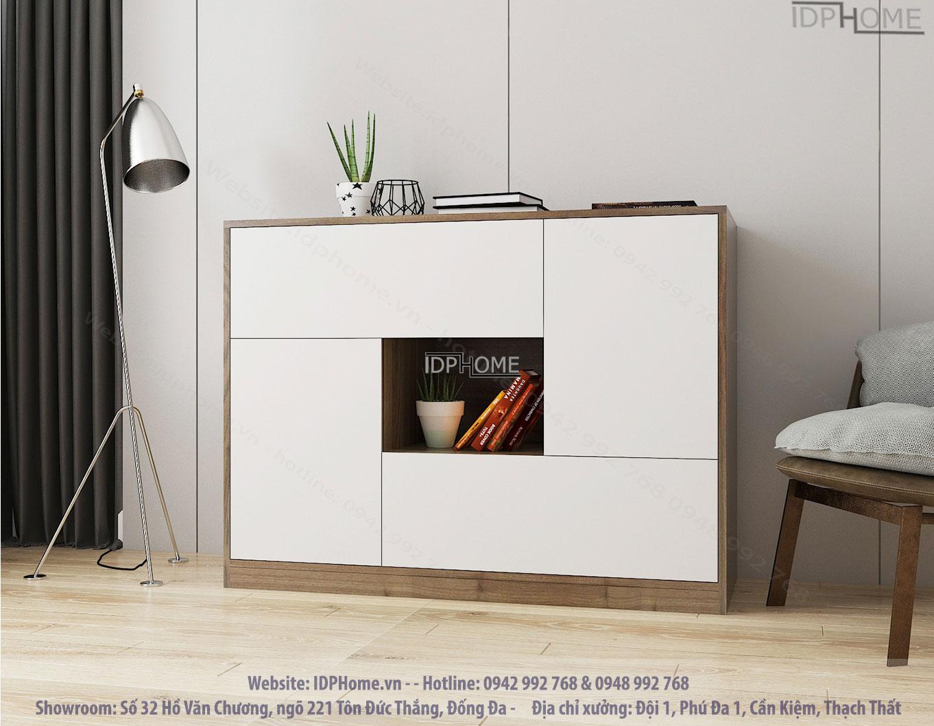 Mẫu tủ trang trí phòng khách đẹp TD6808