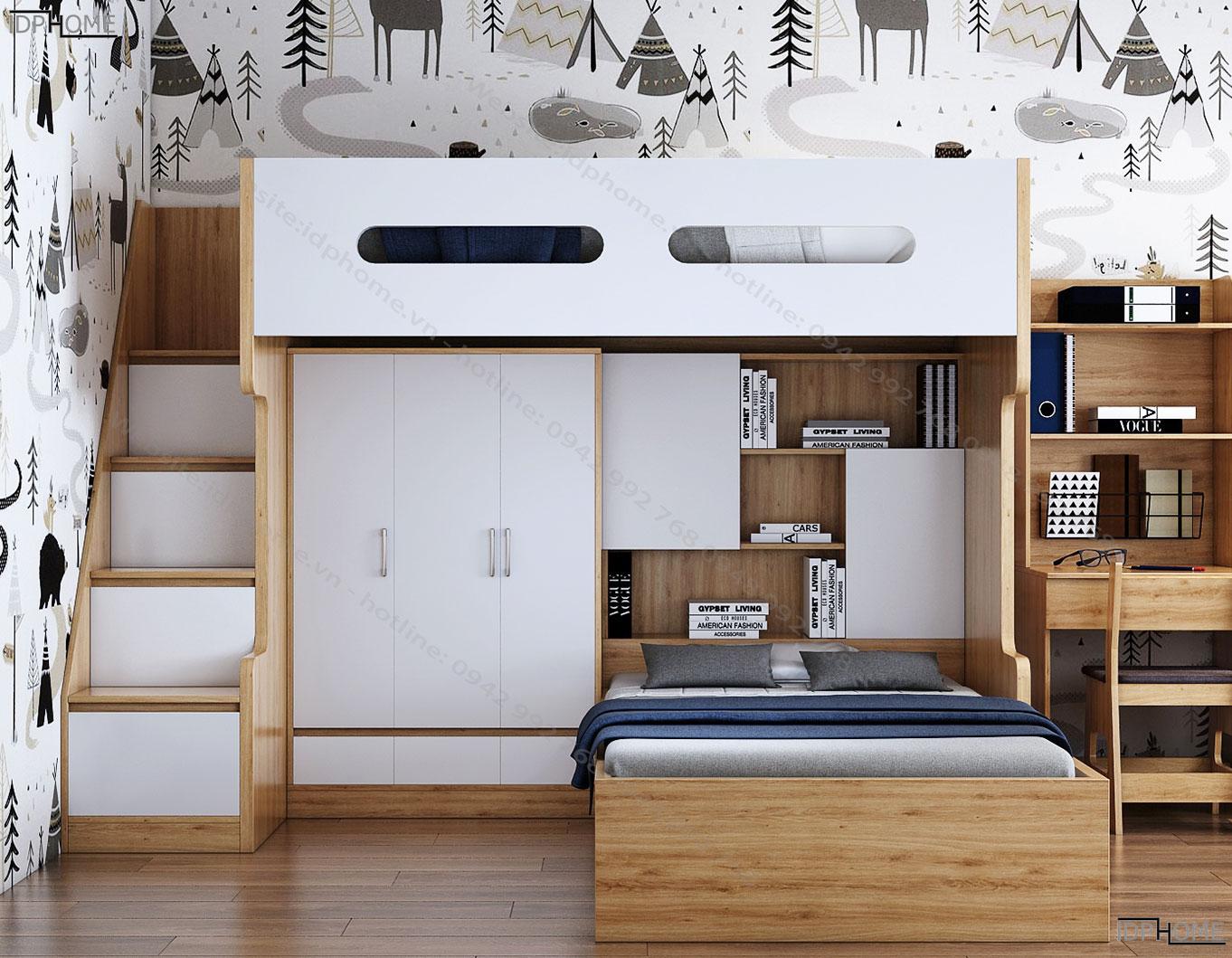 Mẫu giường tầng đẹp GT6804