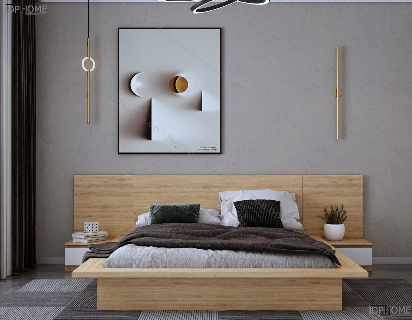 Giường ngủ đẹp kiểu nhật GD6808