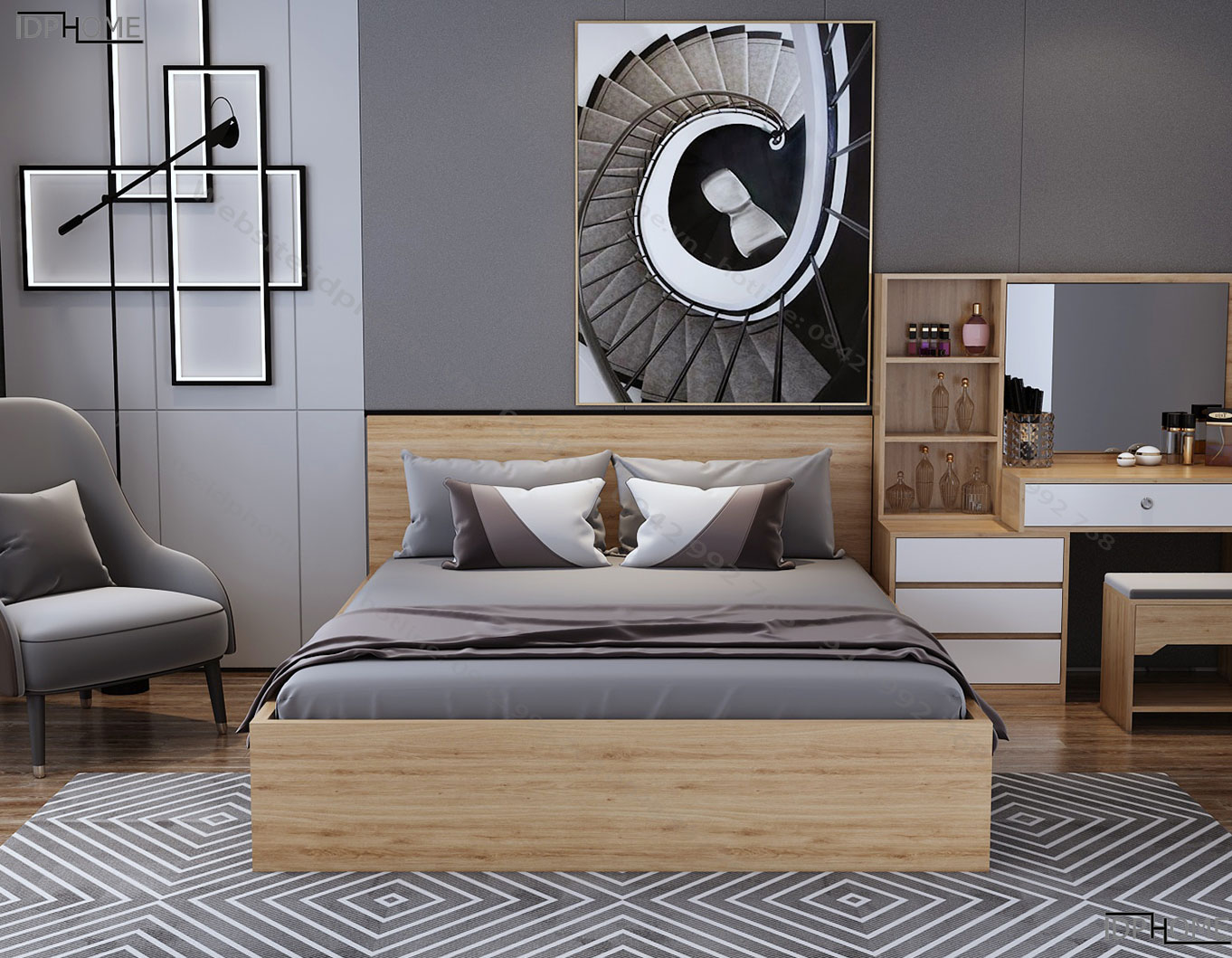 Giường ngủ GD6809