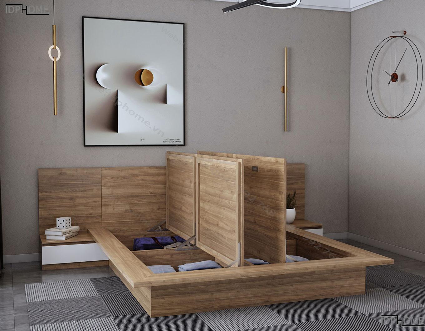 Giường ngủ hiện đại tiện dụng GD6808