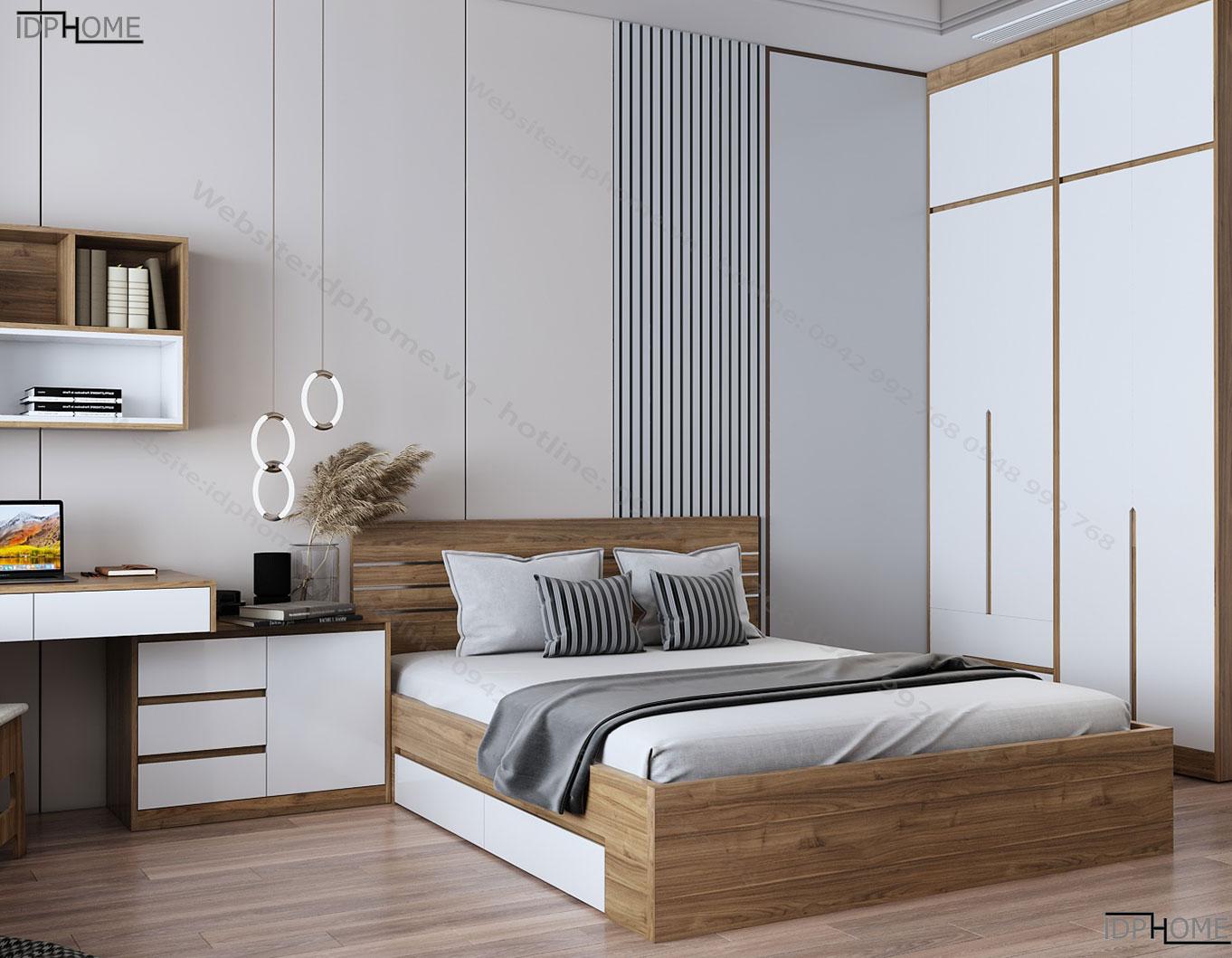 Mẫu giường đôi đẹp GD6801