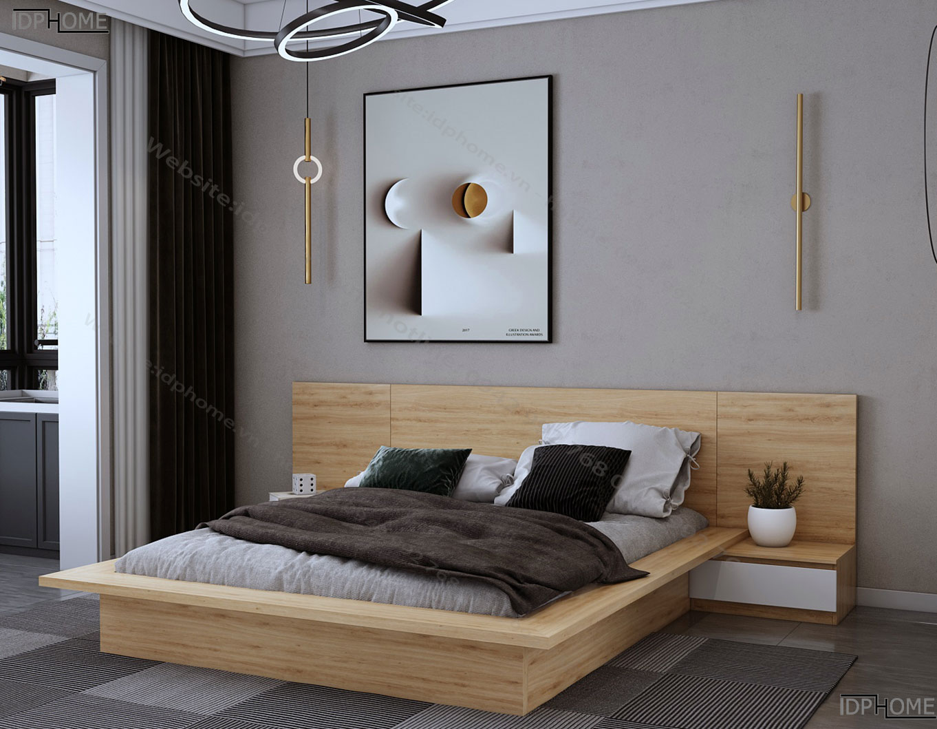 Mẫu giường ngủ đẹp GD6808