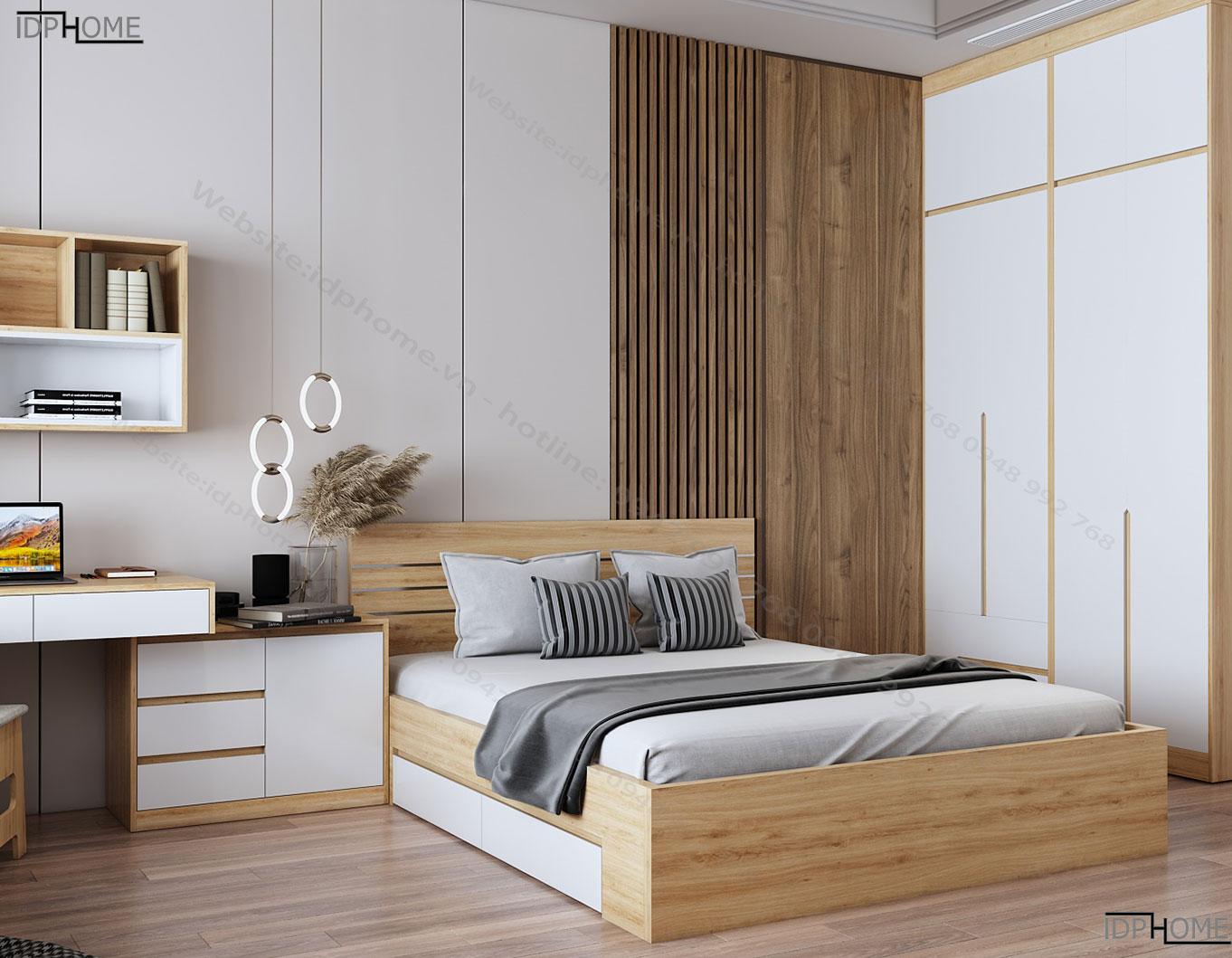 Mẫu giường ngủ gỗ công nghiệp GD6801