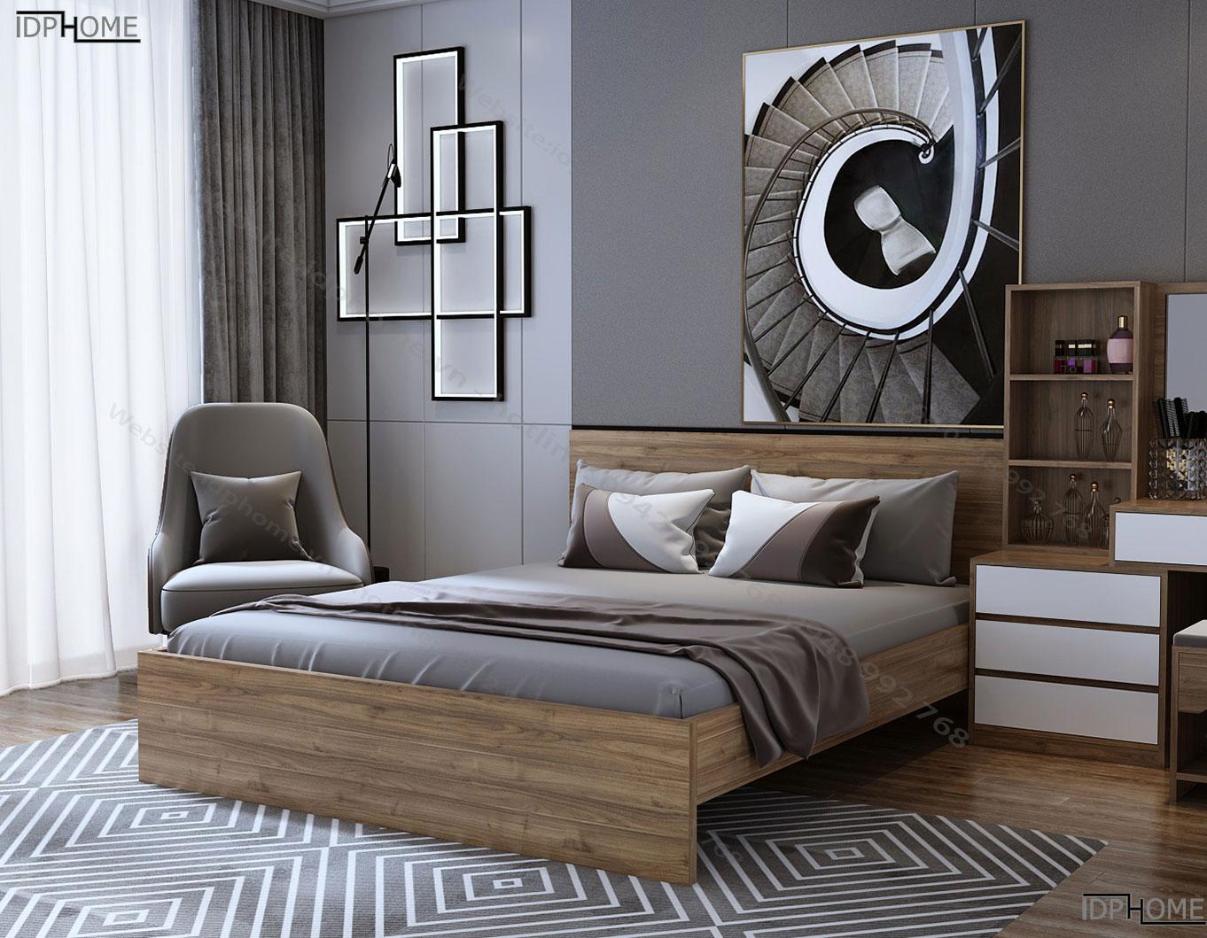 Giường đôi đẹp GD6809