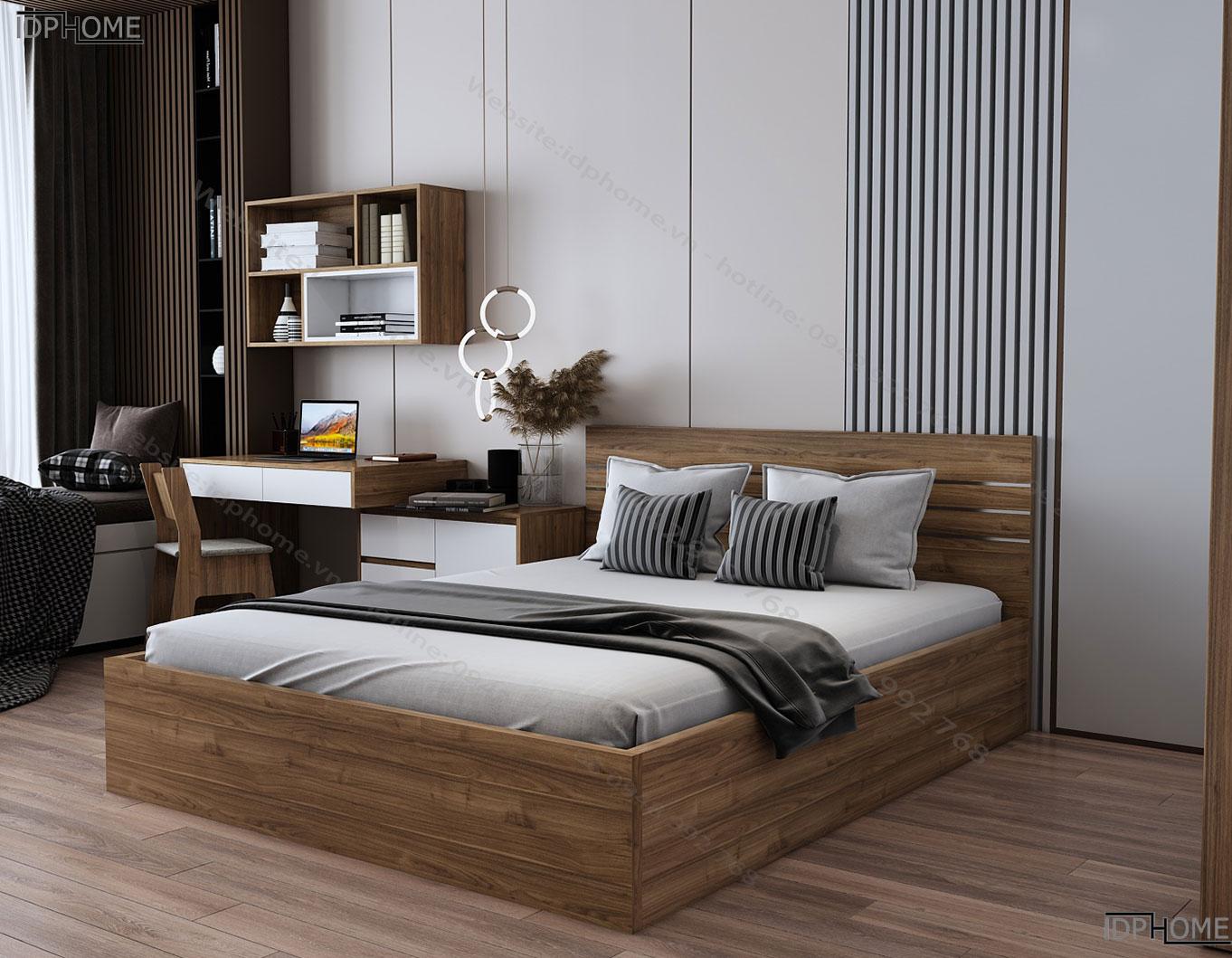 mẫu giường ngủ đẹp GD6801 màu 330