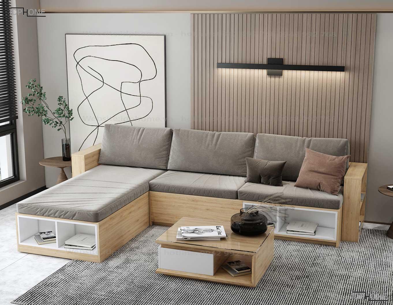 Ghế sofa gỗ công nghiệp đẹp SB6801