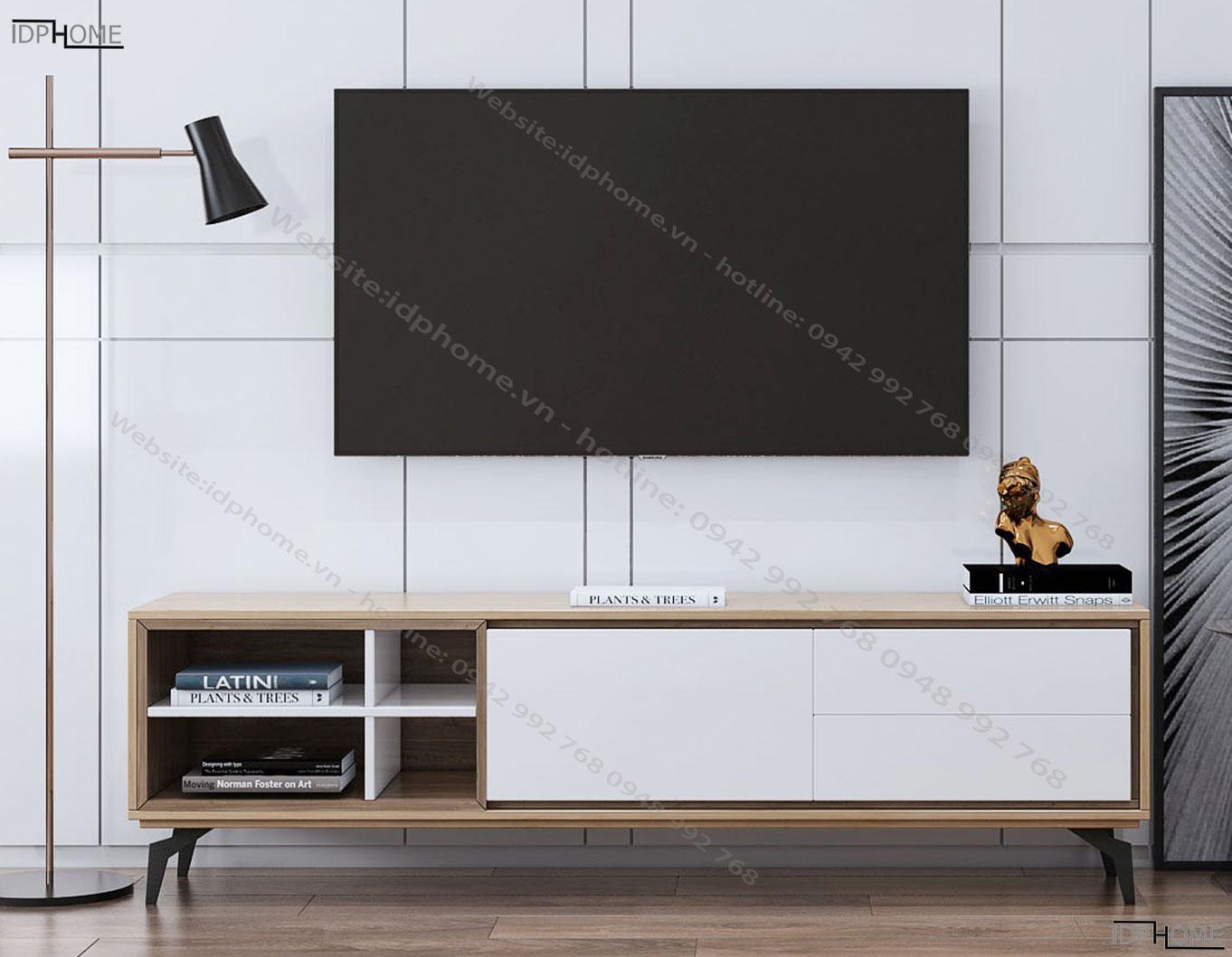 Kệ tivi có hộc trang trí đẹp KT6805