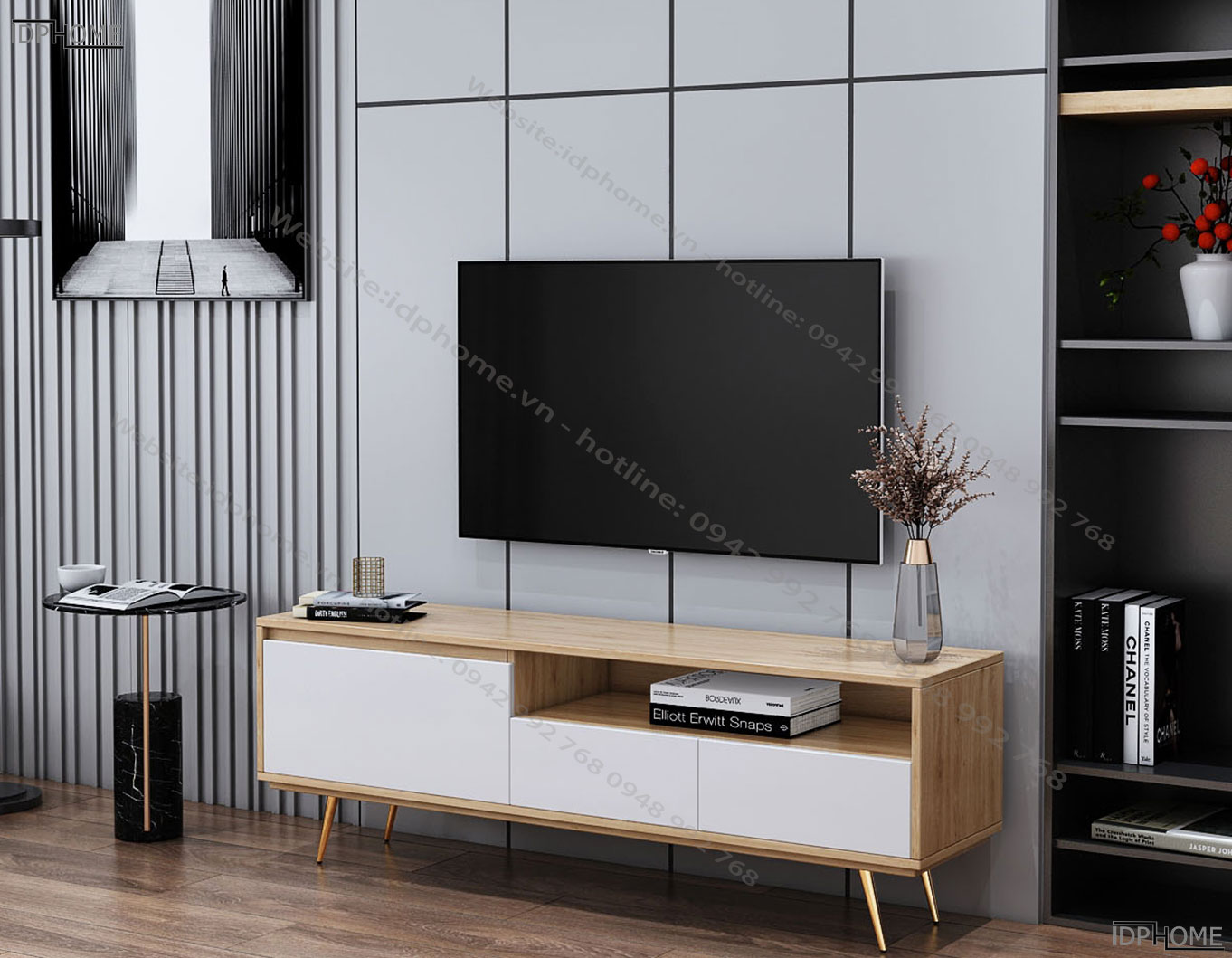 Kệ tivi nhỏ cho phòng khách chung cư KT6801