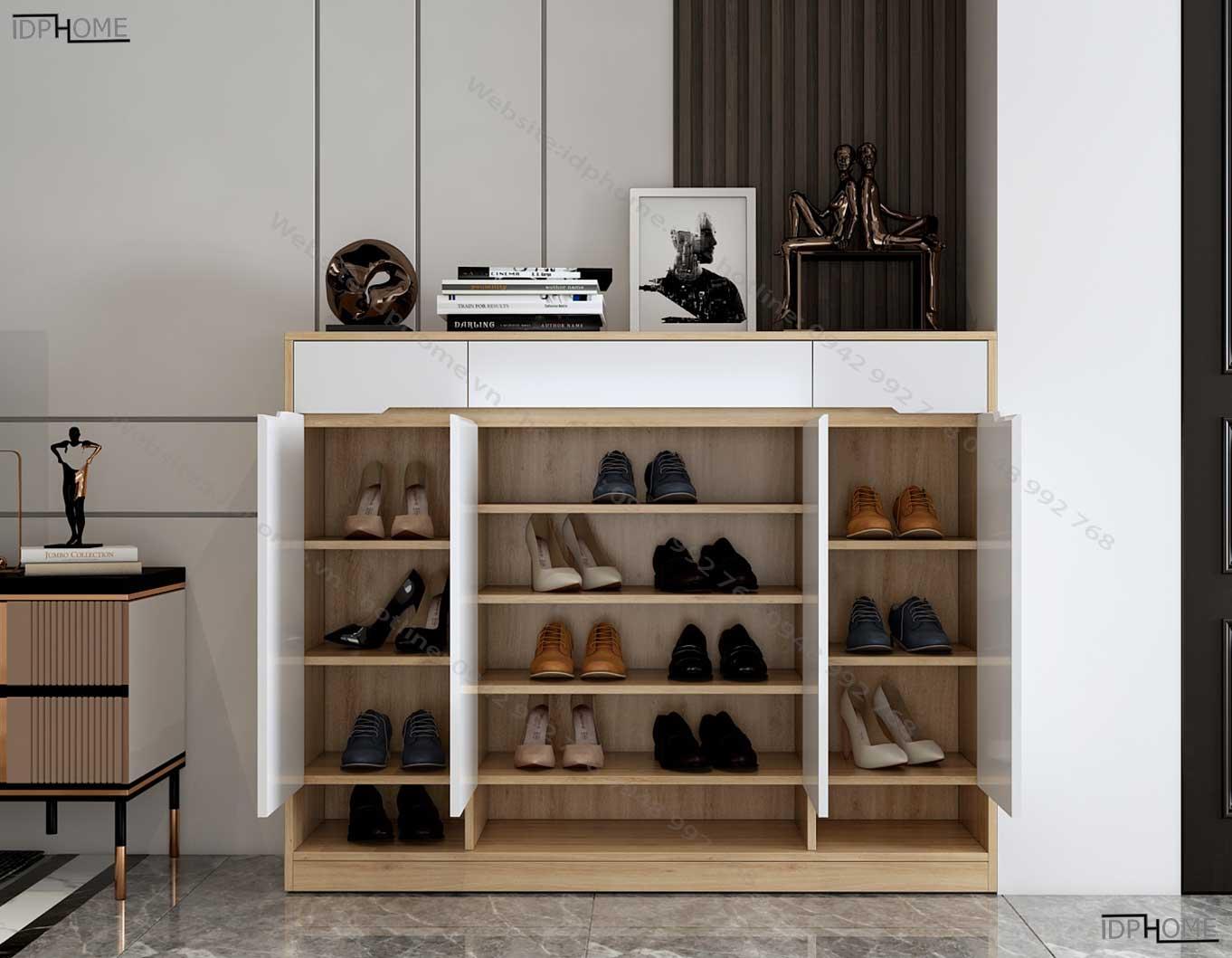 Mẫu tủ giày đẹp sức chứa lớn TG6802