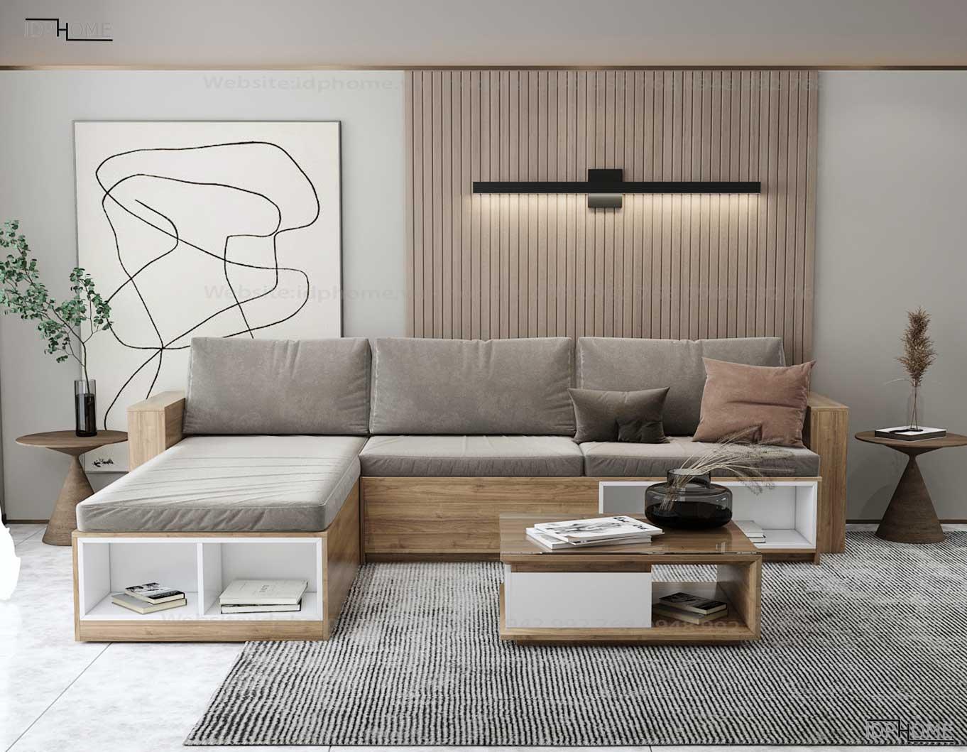 Sofa gỗ công nghiệp SB6801