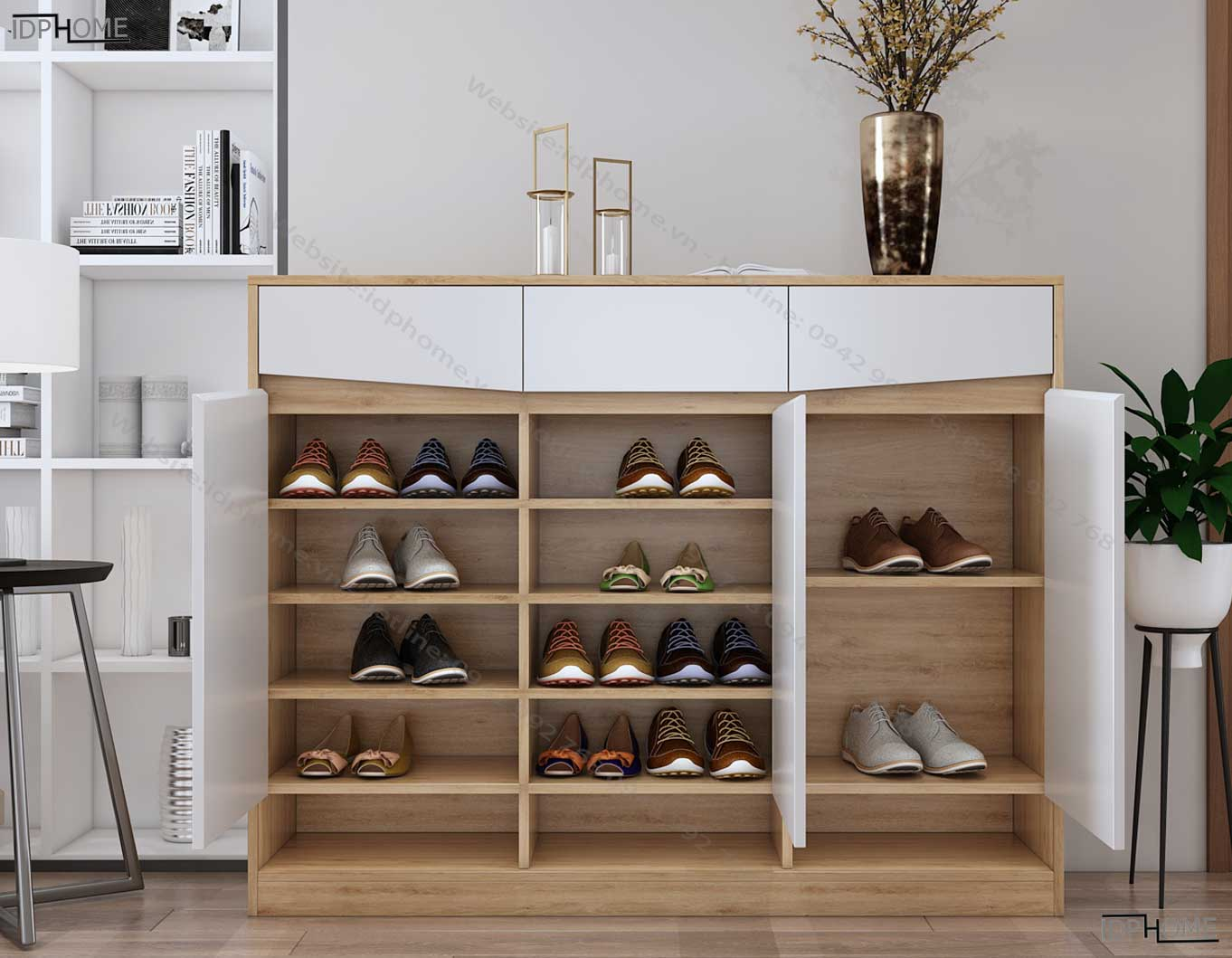 Tủ giày gỗ công nghiệp tiện dụng TG6809