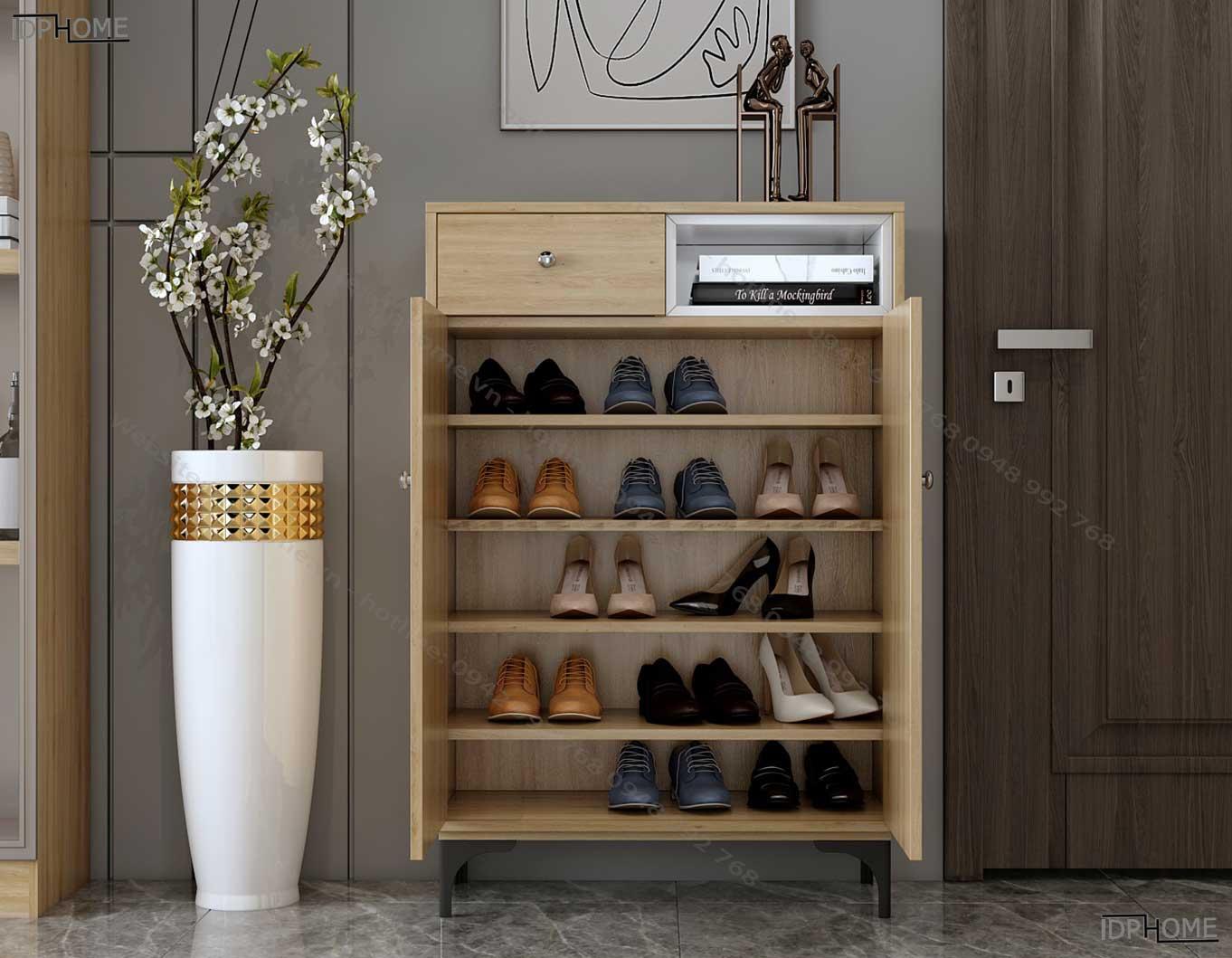 Tủ giày nhỏ gọn chân cao TG6806