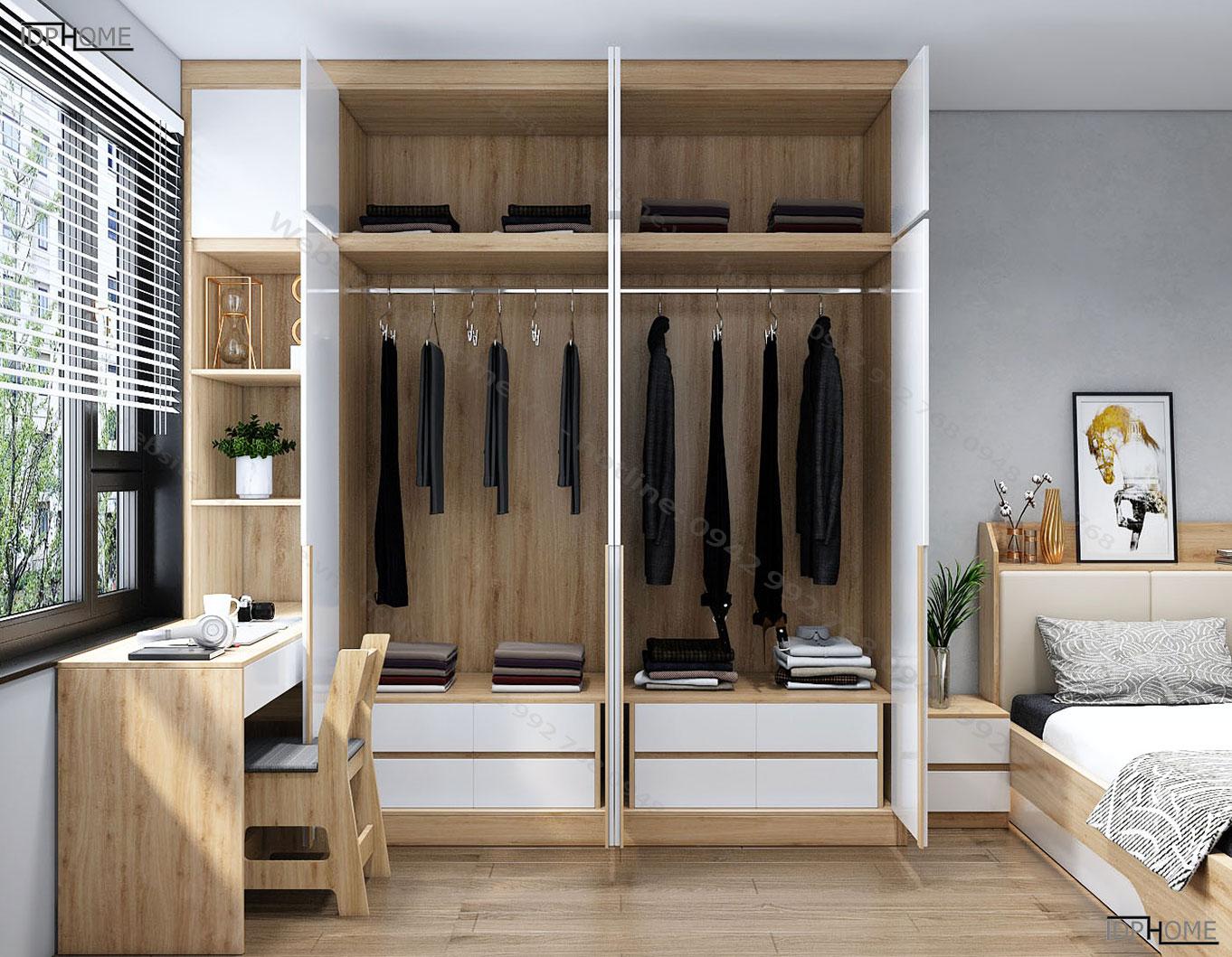 Tủ quần áo kết hợp bàn làm việc TA6818