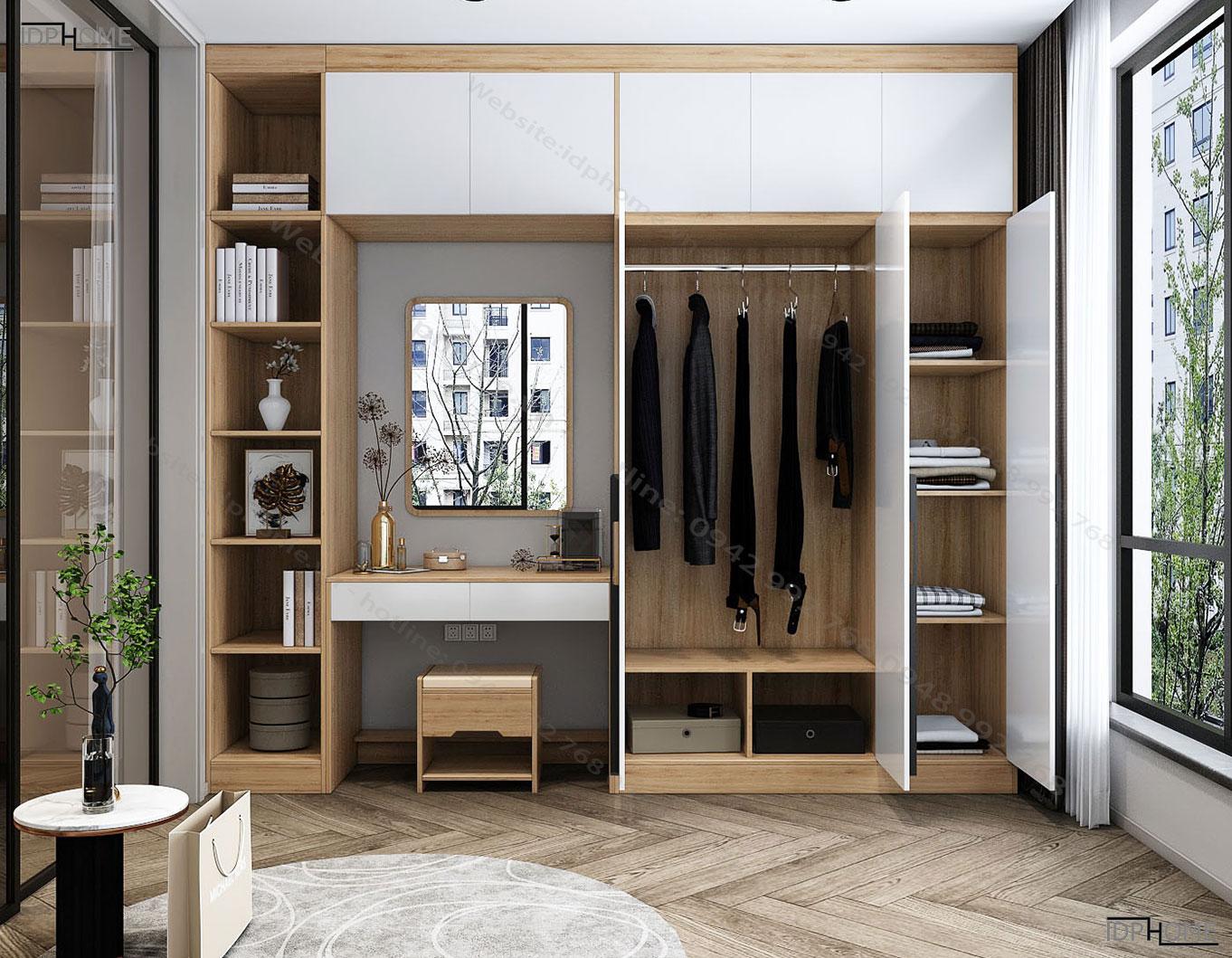 Tủ quần áo kết hợp bàn trang điểm TA6816