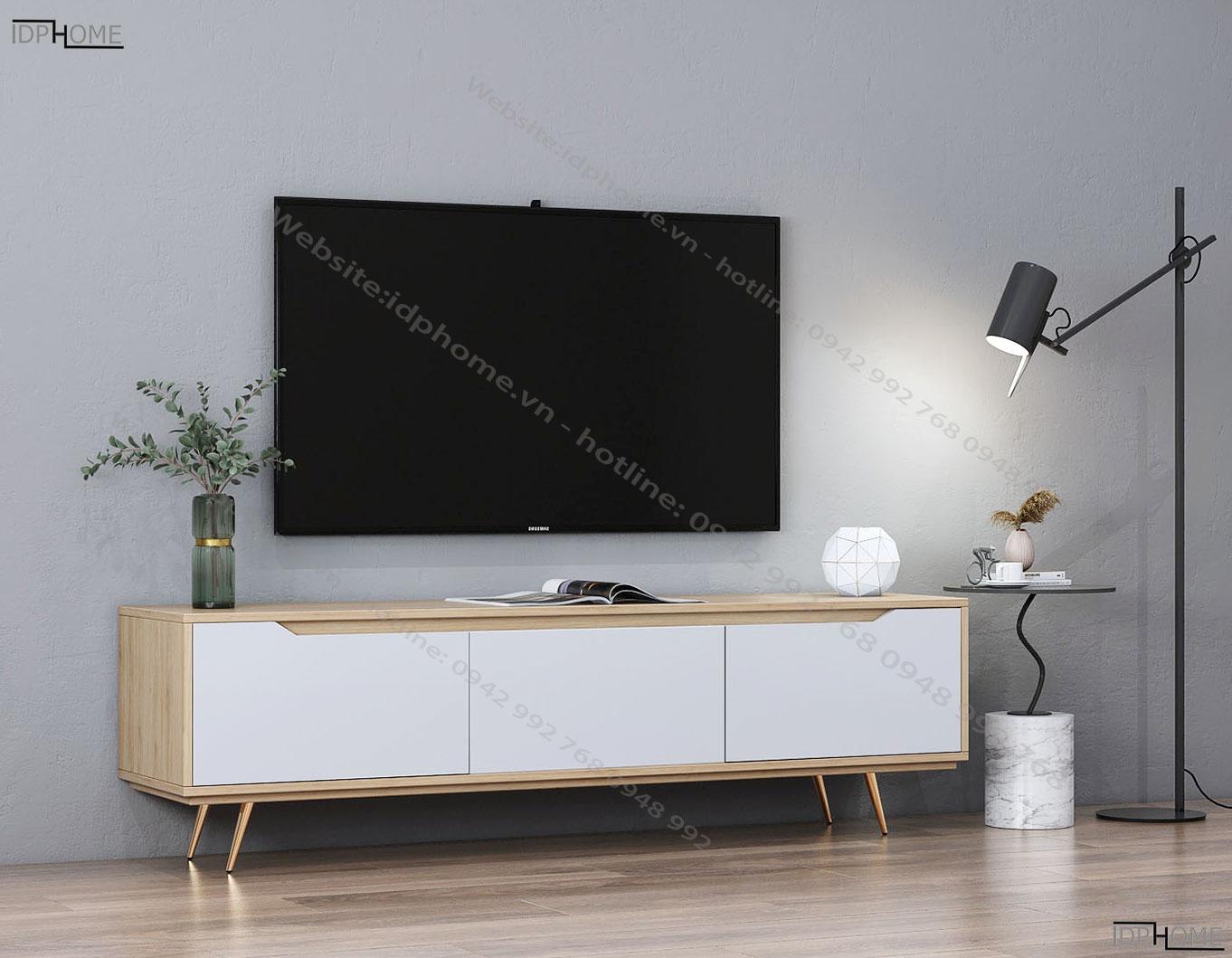 Mẫu kệ tivi hiện đại chân cao KT6808
