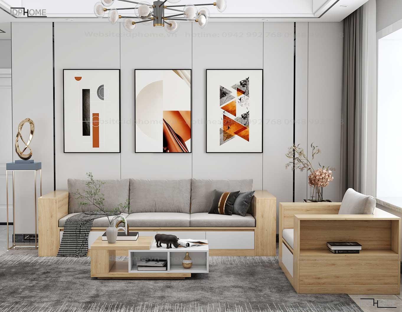 Sofa gỗ công nghiệp hiện đại SB6802