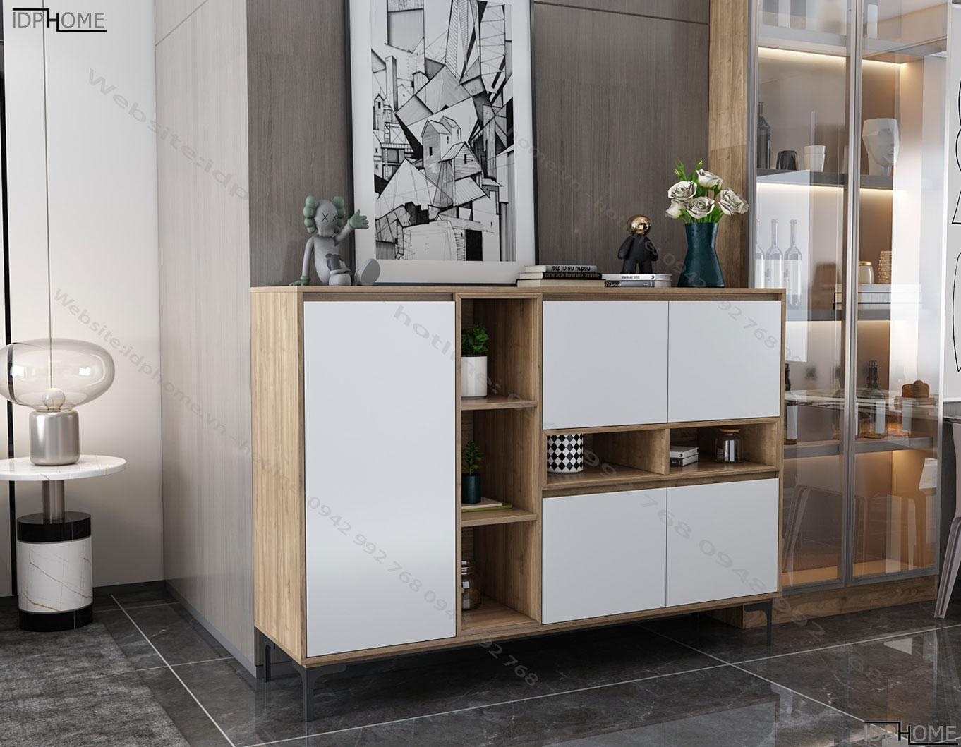 Mẫu tủ trang trí cho phòng khách TD6804