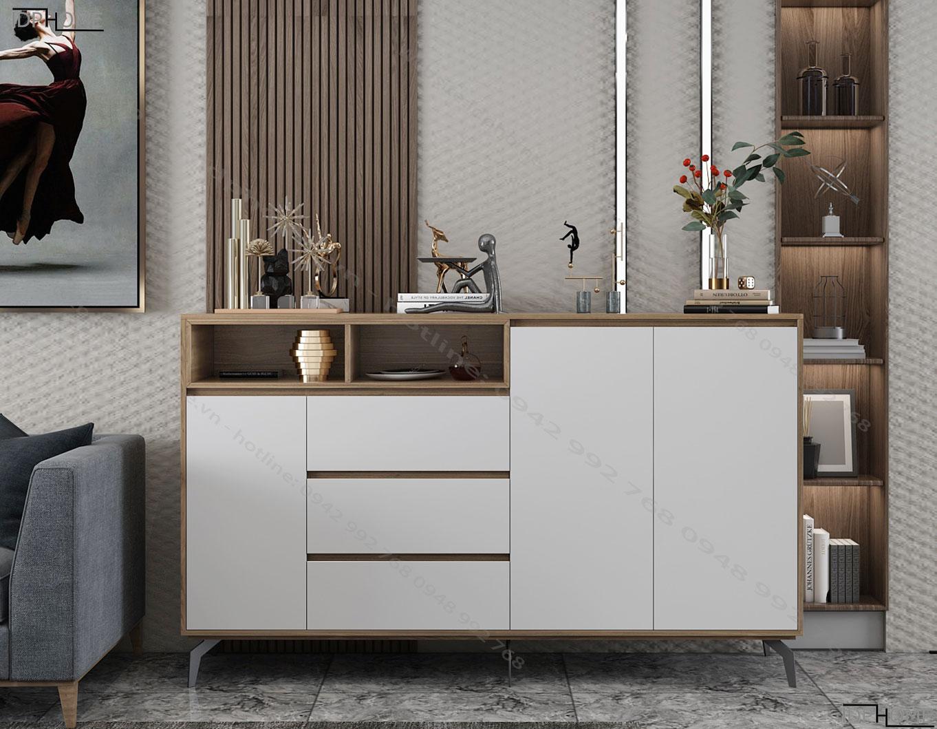 Tủ đồ đa năng cho phòng khách đẹp TD6807