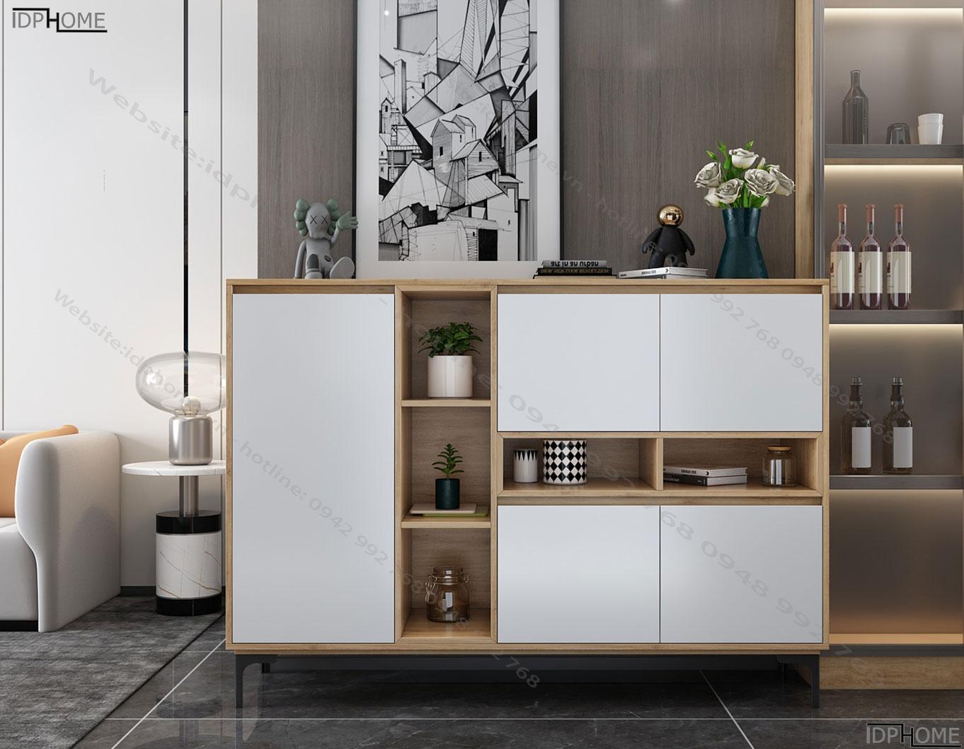 Tủ đồ trang trí cho phòng khách đẹp TD6804