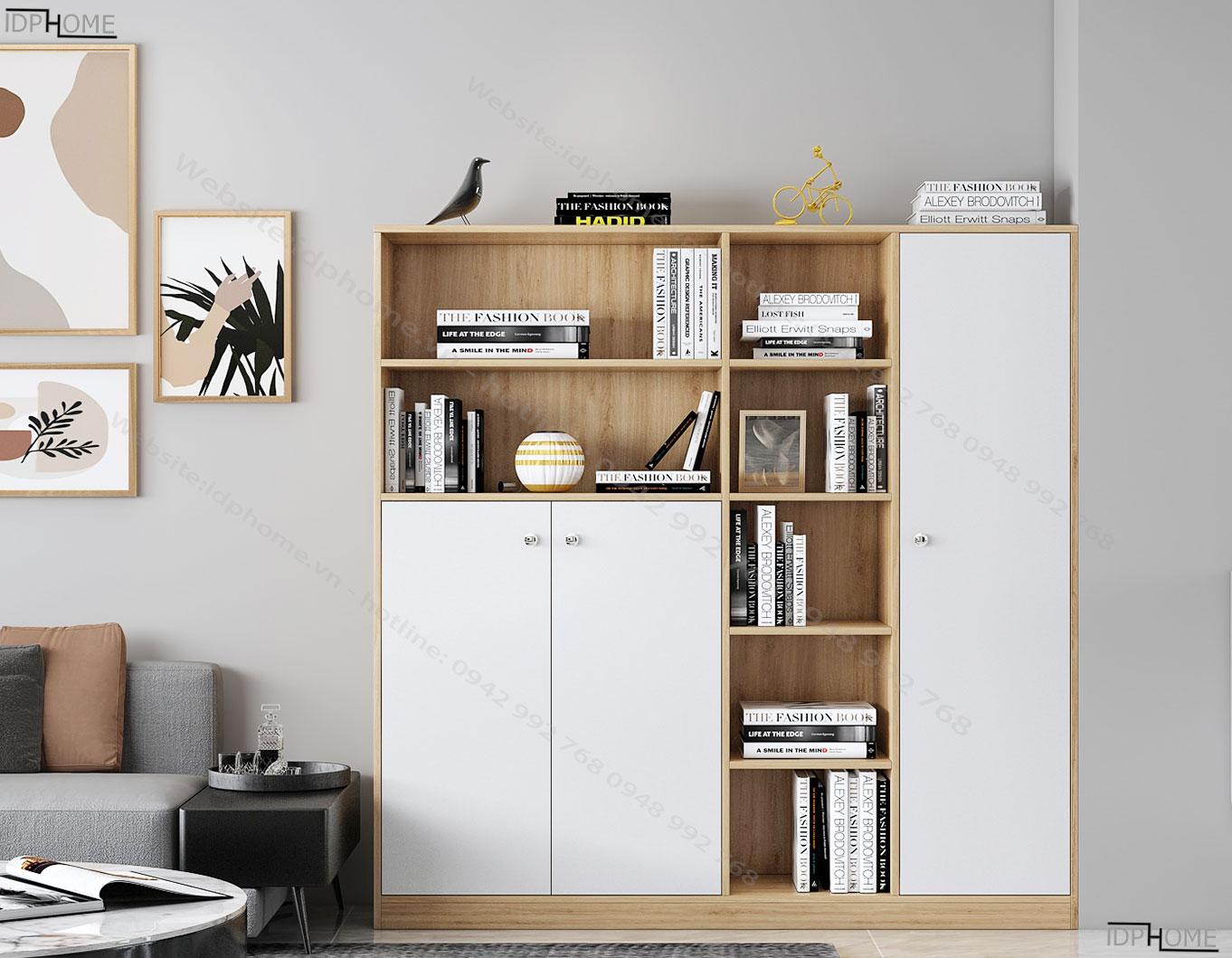 Tủ đựng sách đẹp hiện đại TS6804