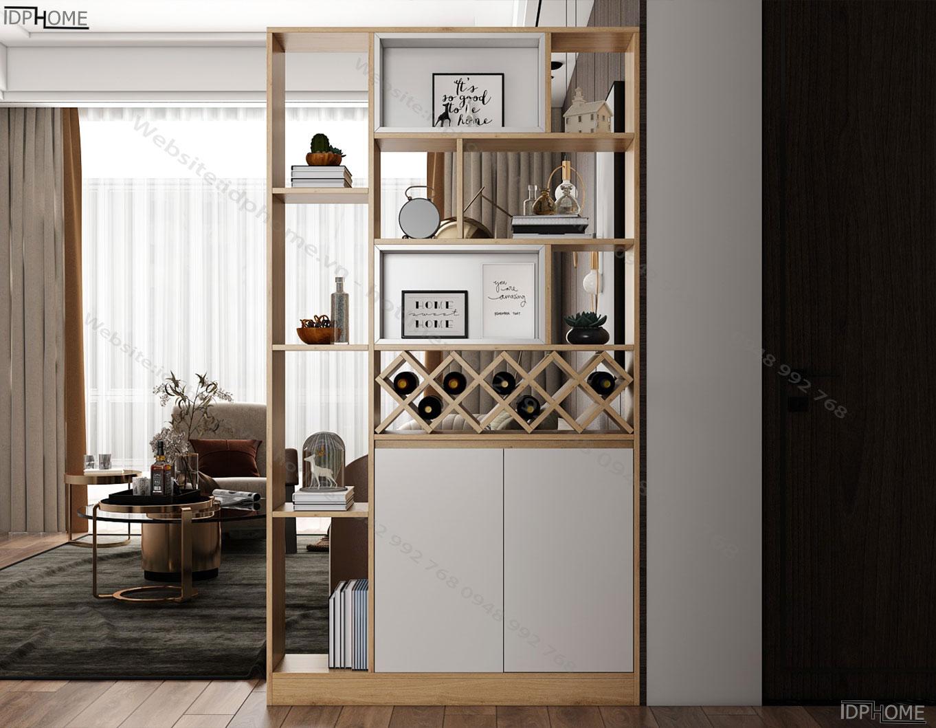 Tủ ngăn phòng đẹp TS6815