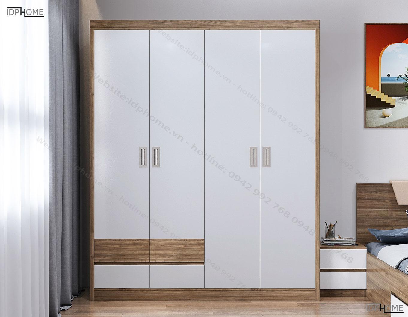 Tủ quần áo 4 buốngTA6808