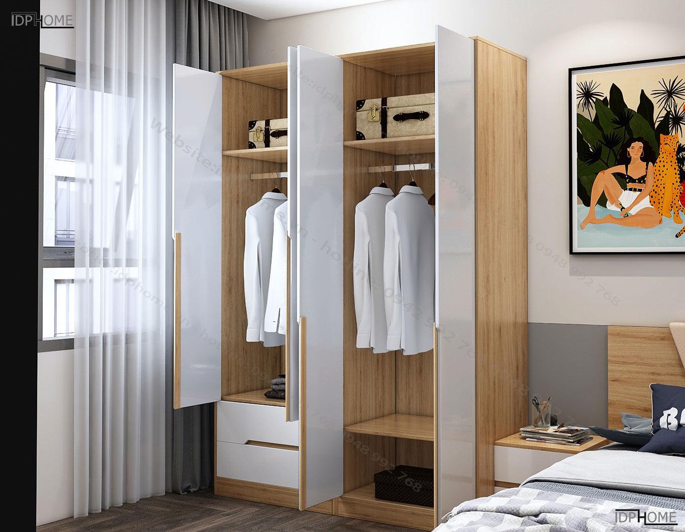 Tủ quần áo cao cấp sang trọng TA6812