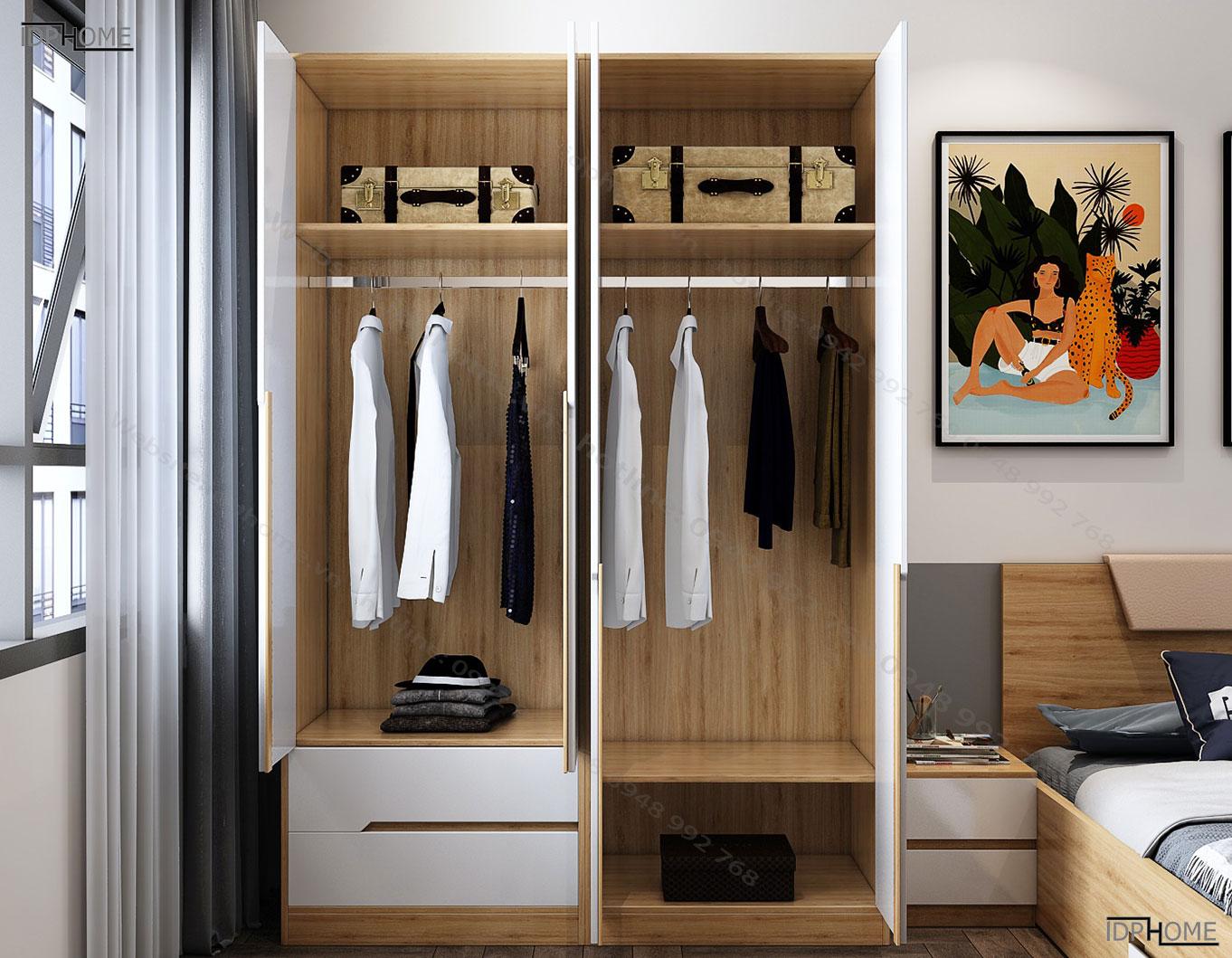 Tủ quần áo cao cấp tinh tế TA6812