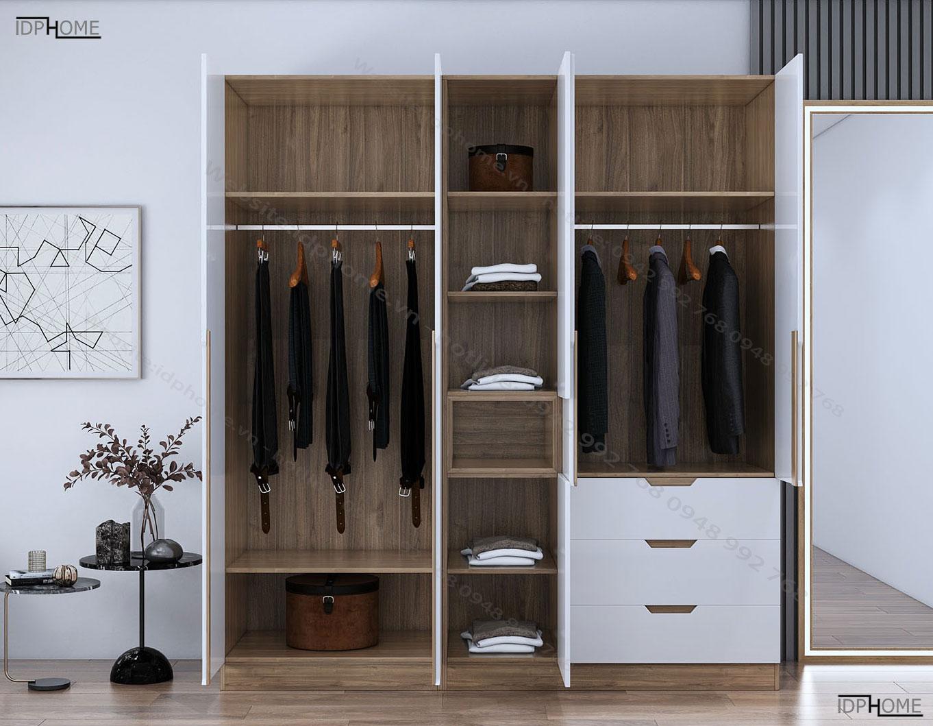 Tủ quần áo đẹp đa năng TA6805