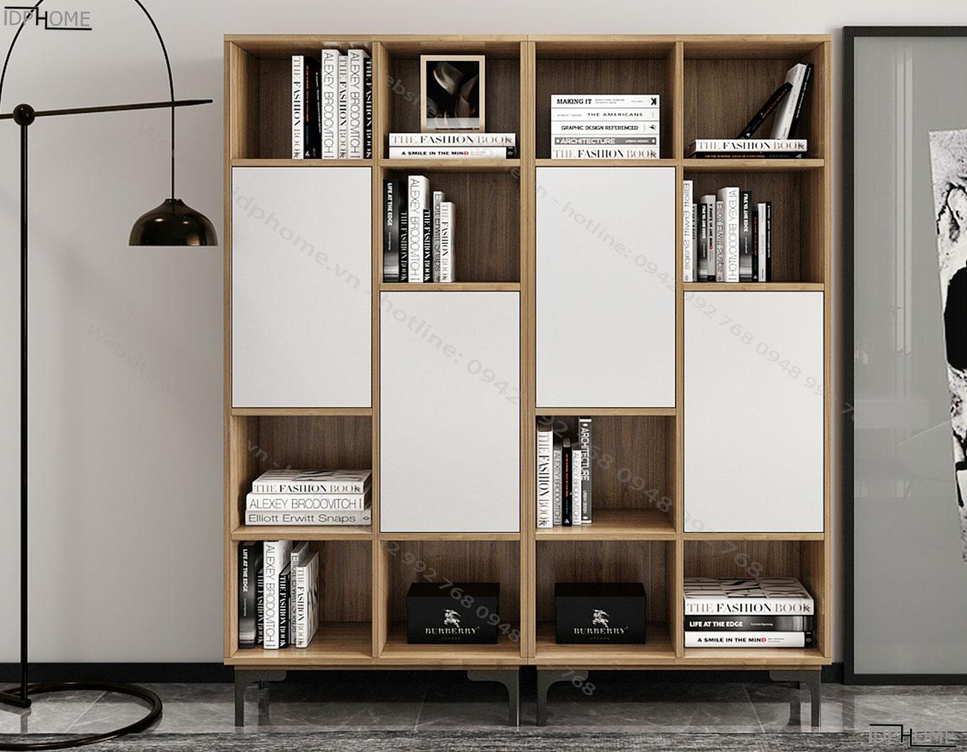 Tủ sách bằng gỗ công nghiệp TS6801