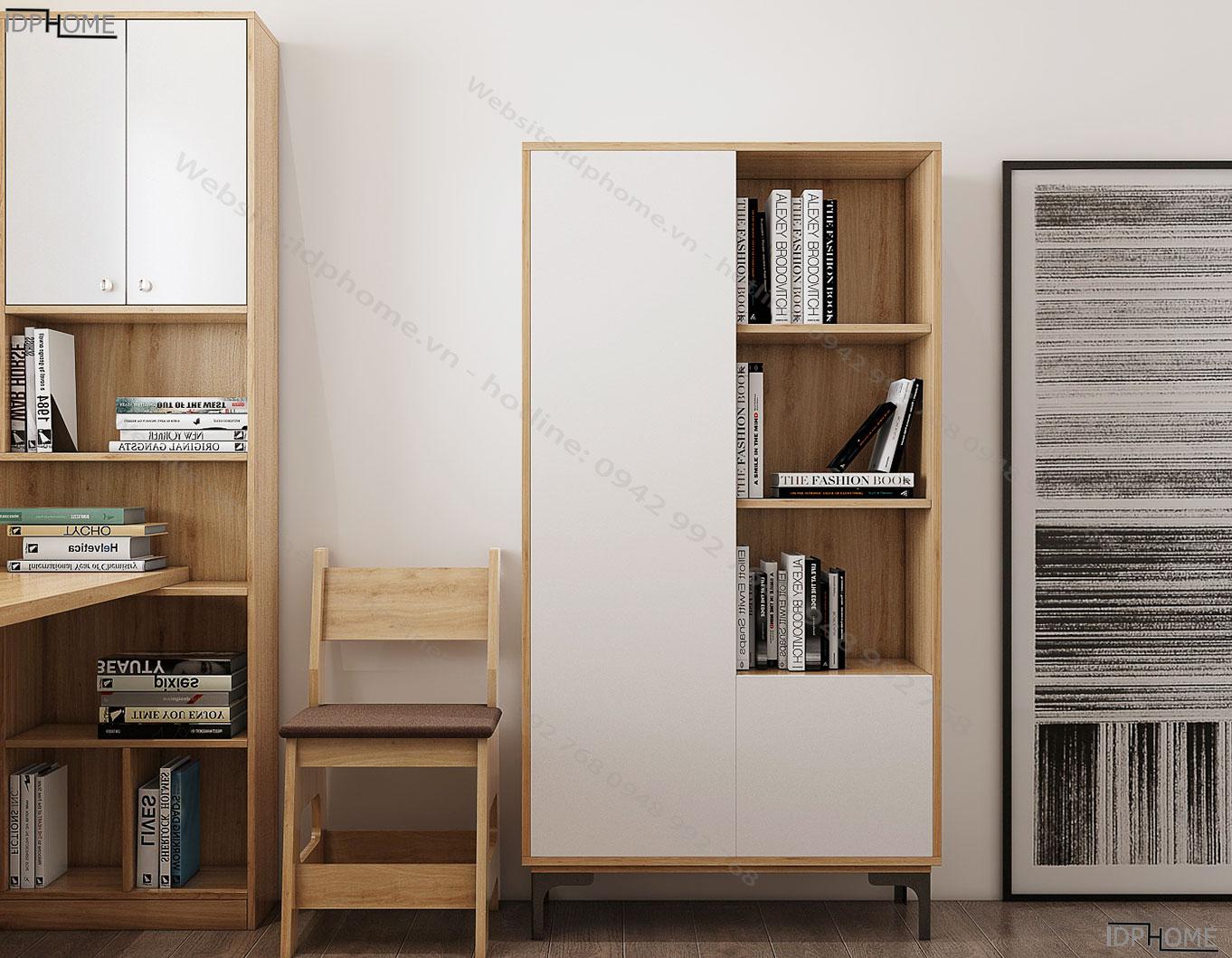 Tủ sách đẹp TS6808