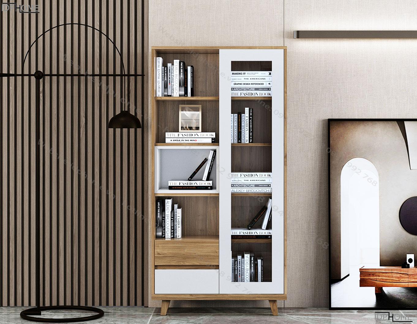 Tủ sách gỗ công nghiệp TS6817