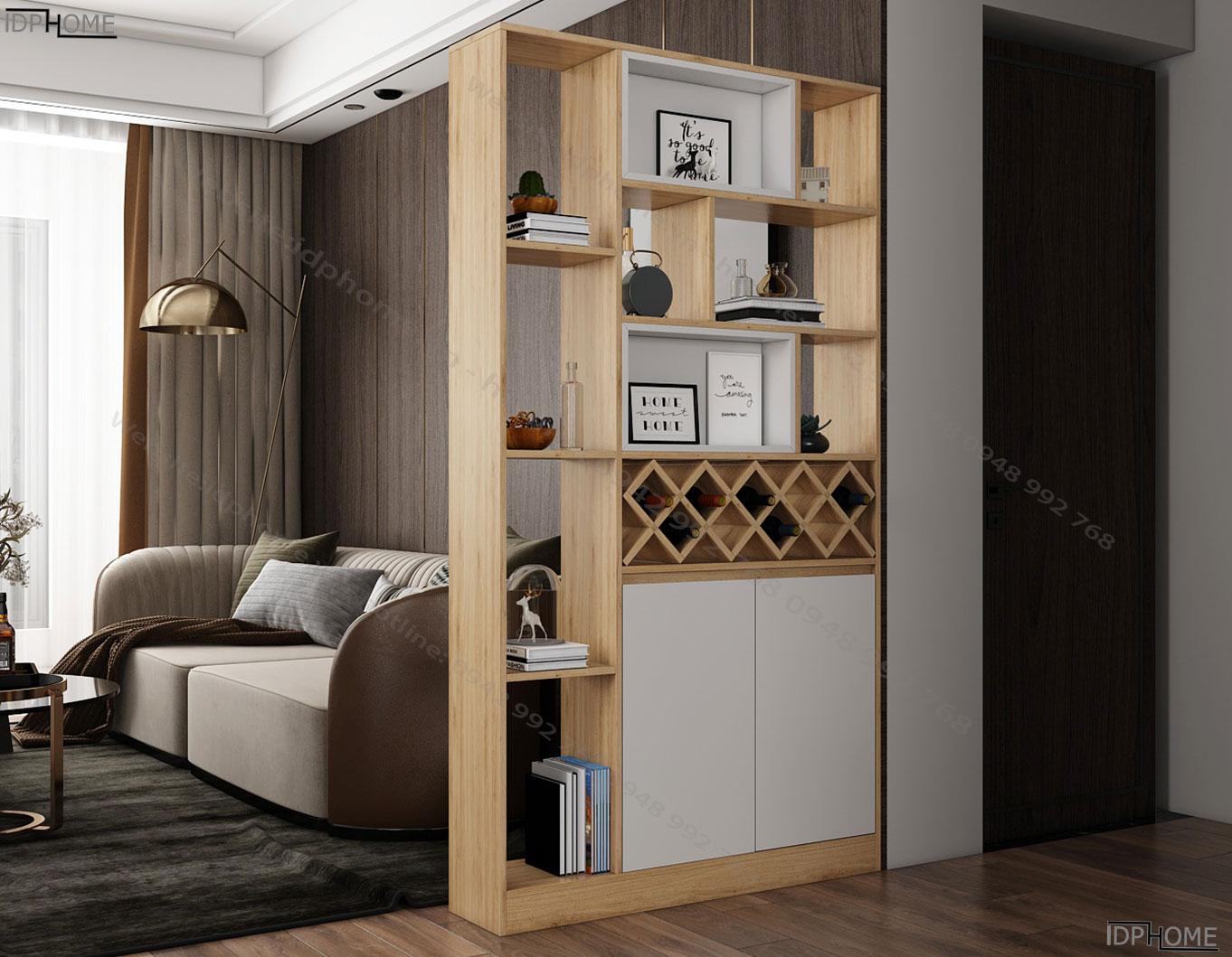 Tủ trang trí phòng khách đẹp TS6815