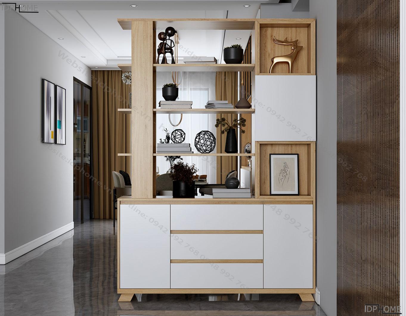 Tủ trang trí phòng khách đẹp TS6816