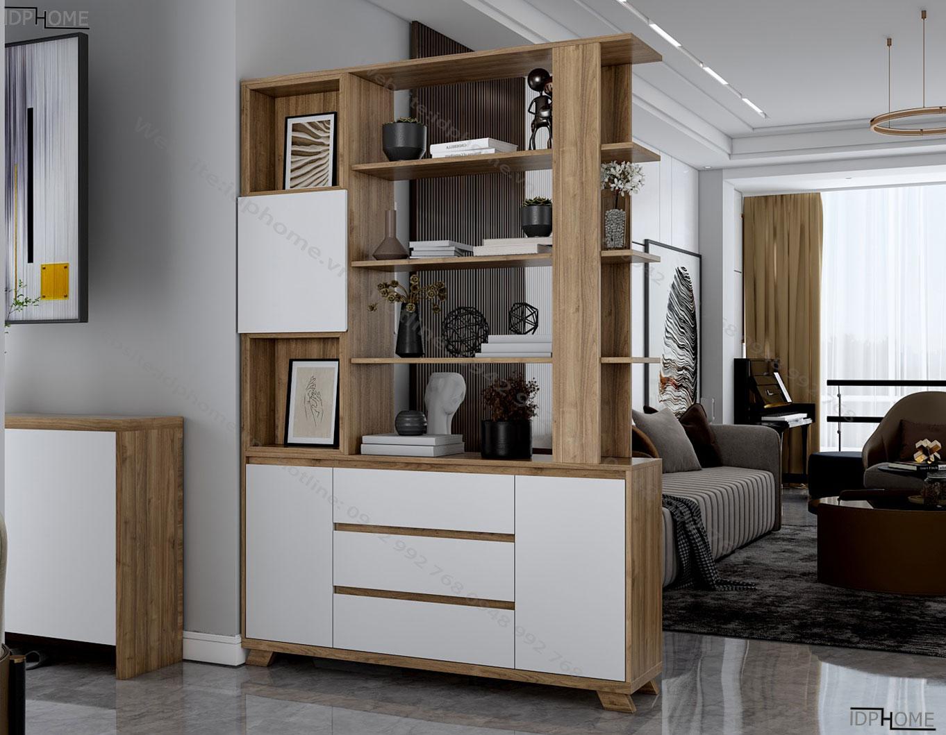 Tủ trang trí phòng khách hiện đại TS6816